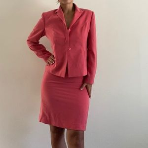 PINK VINTAGE SKIRT SUIT SET
